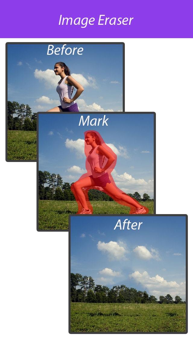 照片橡皮擦 - 图像杂物清除,去除水印,P图美图,秀秀给朋友