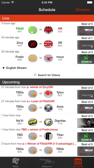 Insider for CS GO - Schedule, Maps, Weapons-0