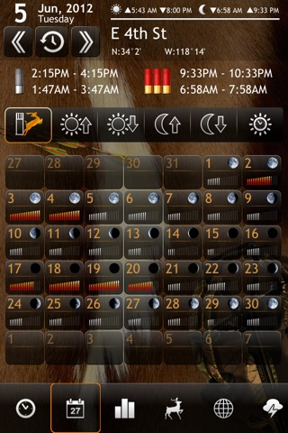 Solunar Calendar - Best Hunting Times and Feeding screenshot 2