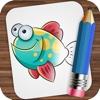 Zeichnung Ozean Tiere