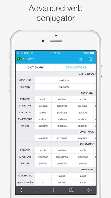Brazilian – English Dictionary Screenshots