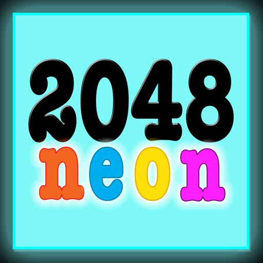 Neon 2048 Match The Number iOS App