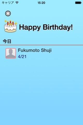 Birthday List screenshot 2