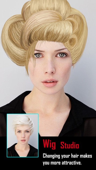 Screenshots of Insta Wig Studio - Hair Editor Booth to Design Hairstyle plus Change Color Effects for iPhone