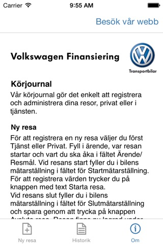 Volkswagen Transport Körjournal screenshot 4
