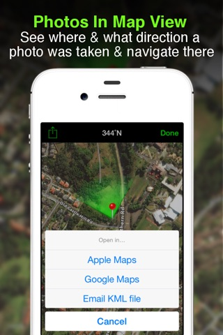 Solocator - GPS Field Camera to stamp photos with location, direction, altitude, date, time + optional editable notes screenshot 2