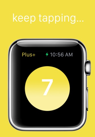 Plus+ — A simple tap counter for Apple Watch screenshot 2