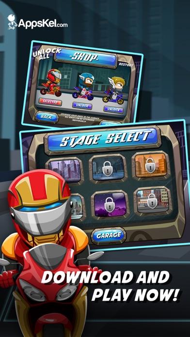 download Comic Superhero Con-man Biker – Super Stunt of Steel Hero 2 Games PRO apps 3