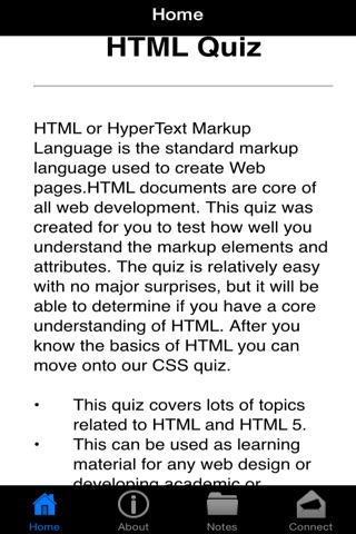 HTML Hyper Text Markup Language Quiz screenshot 2