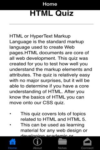 HTML Hyper Text Markup Language Quiz screenshot 2