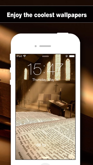 Screenshots of Bible Wallpapers HD - Backgrounds & Lock Screen Maker with Holy Retina Themes for iOS8 & iPhone6 for iPhone