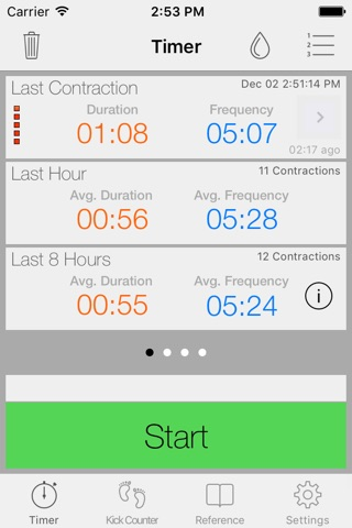Full Term - Contraction Timer & Pregnancy Toolkit screenshot 1
