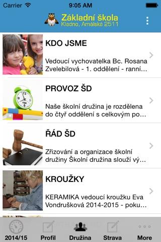ZŠ AMÁLSKÁ KLADNO screenshot 3