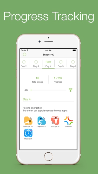 Situps 100 - 30 days workout challenge Screenshot 5