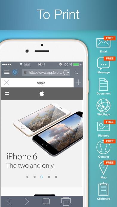 To Print - для печати документов, вэб страниц, изображений, фотографий, контактов, сообщений и картСкриншоты 1