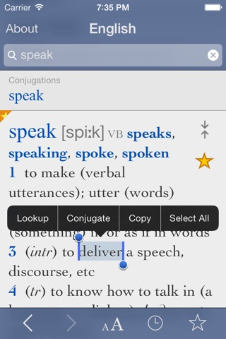 English Dictionary and Thesaurus with Verbs screenshot 1