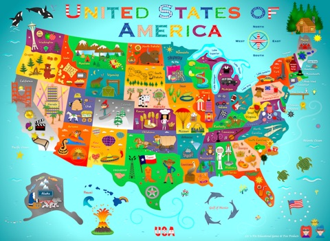 USA Fun Map For Kids By Liv N Fin Interactive Books On IBooks - Interactive us map for kids