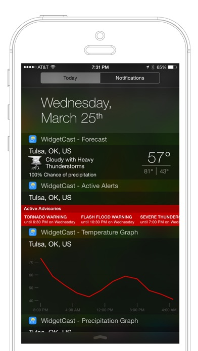 WidgetCast app