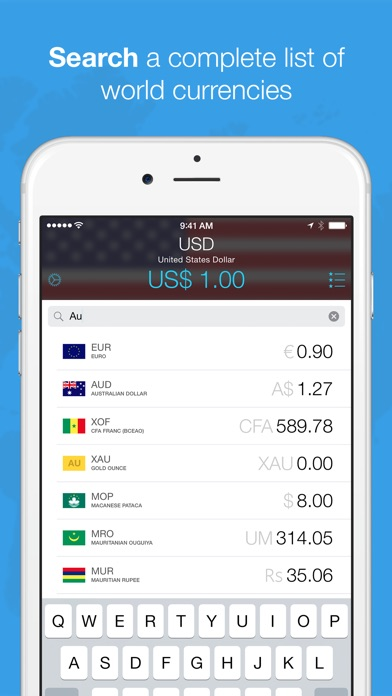 Screenshot #4 for Currencies by Edovia