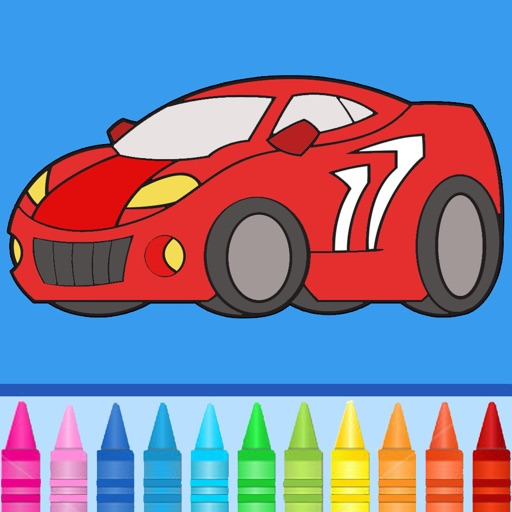 Cars Coloring Book: Coloring pages for finger painting with cars, trucks & more! iOS App