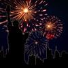 Новый год Обратный отсчет & салют аркада & свеча