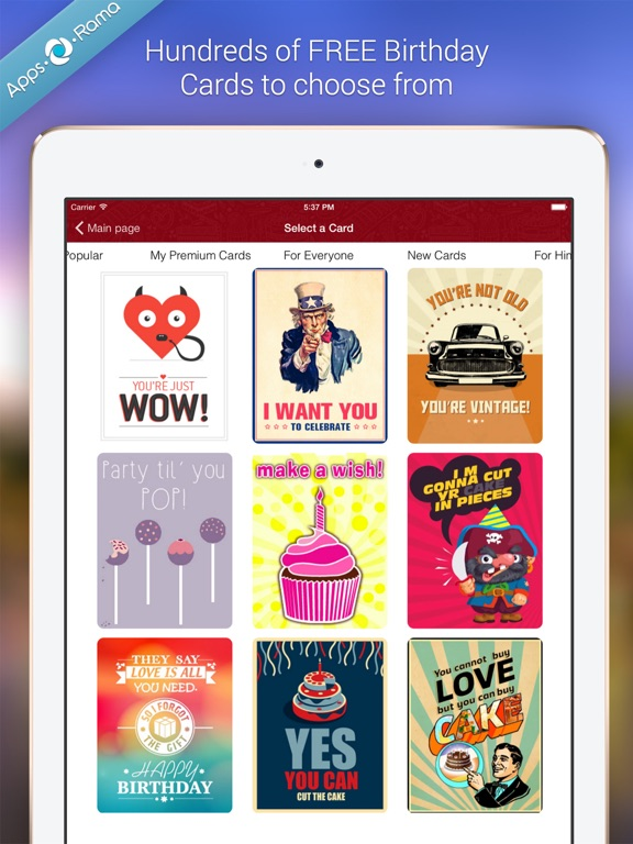 Birthday Cards for Friends on the App Store – Birthday Cards for Ipad
