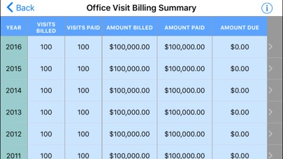 IDC Billing Summary screenshot one