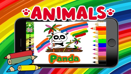 Cute Animal Alphabet Coloring Book For Kids Easy Toddler Game On