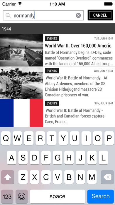 Today in history free world events quotes etc on the app store iphone screenshot 5 sciox Images