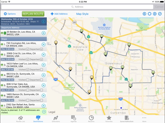 RouteMe Route Planner On The App Store - Us road map for ipad