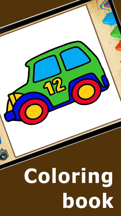 Coloring Book Cars Games For Kids Boys Girls Free
