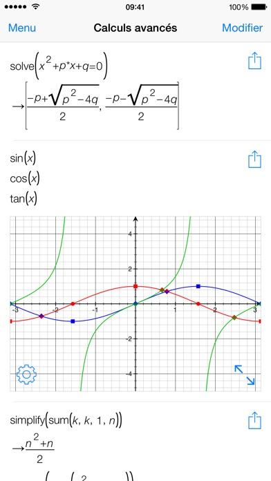 Screenshot Les mathématiques avec PocketCAS