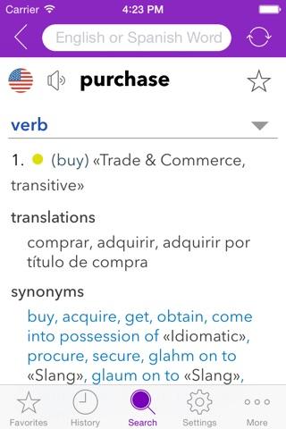 Spanish Business Dictionary screenshot 2