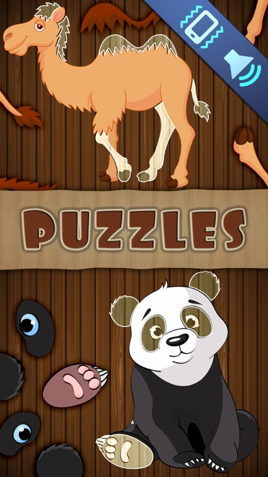 Animal Puzzles Games: little boys & girls puzzle Screenshot