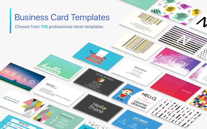Business Card Templates Pages Edition On The Mac App Store - Pages business card template