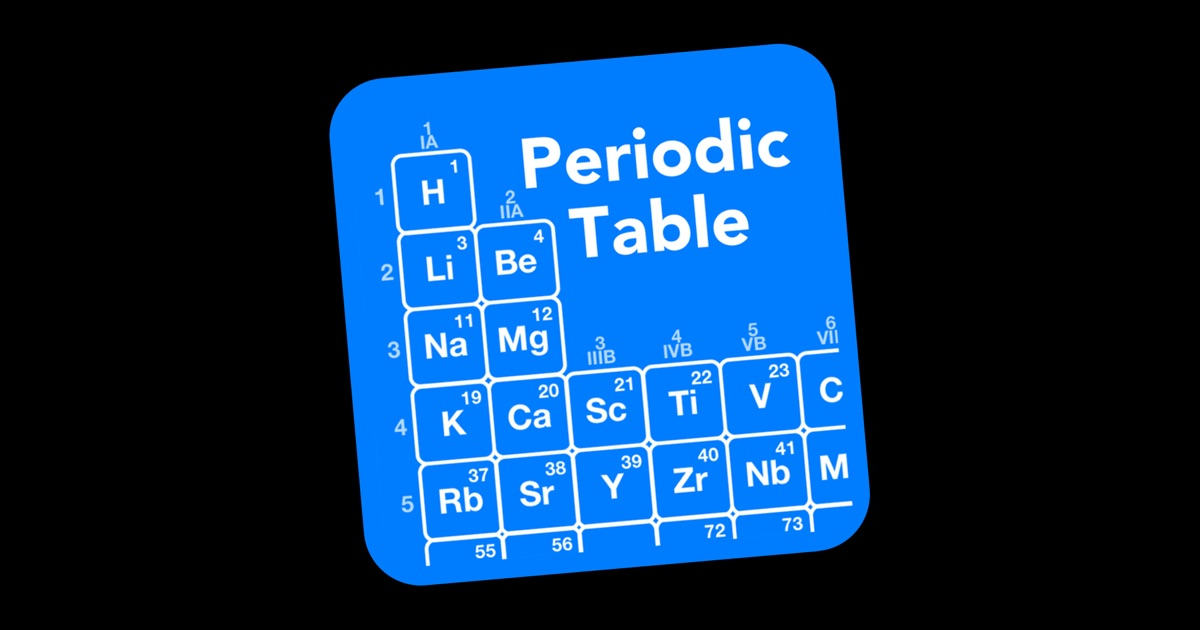 element fill periodic table on the mac app store - Periodic Table App For Windows 8
