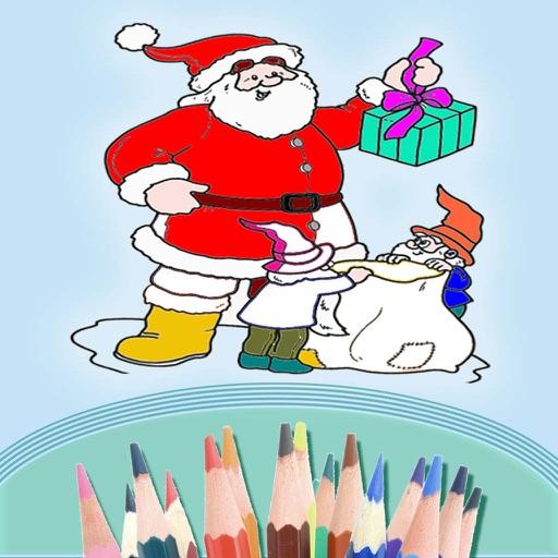 孩子们的涂色填色书—圣诞节和圣诞老人—圣诞树