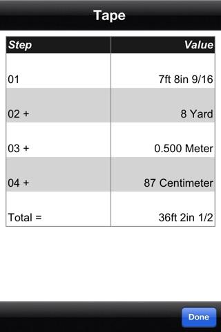 Measure Master Pro Feet Inch Fraction Calculator screenshot 3