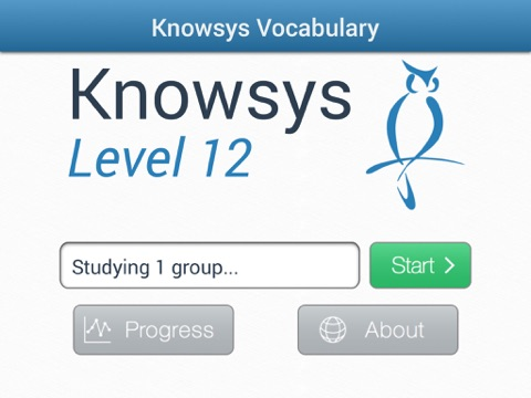 Knowsys Level 12 Vocabulary Flashcards screenshot 1