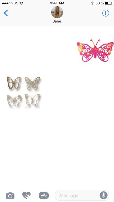 Две бабочки стикер Pack!Скриншоты 3