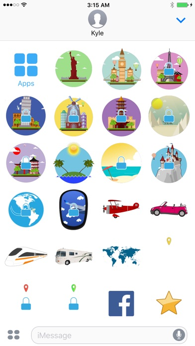 Hueliday: World Travel Animated Stickers 앱스토어 스크린샷
