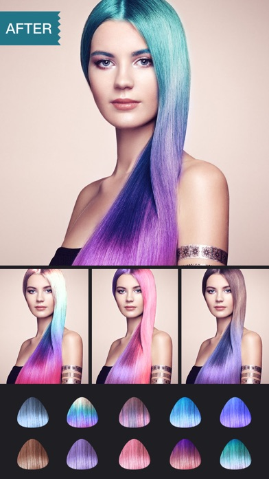 Приложение меняет цвет волос айфон