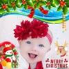 Weihnachtsgruß-Karte und Aufkleber