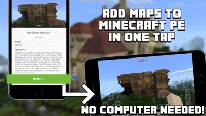 Screenshots of Mansion Maps for Minecraft PE - Minecraft Maps for iPhone