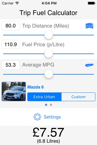 Trip Fuel Calculator screenshot 1