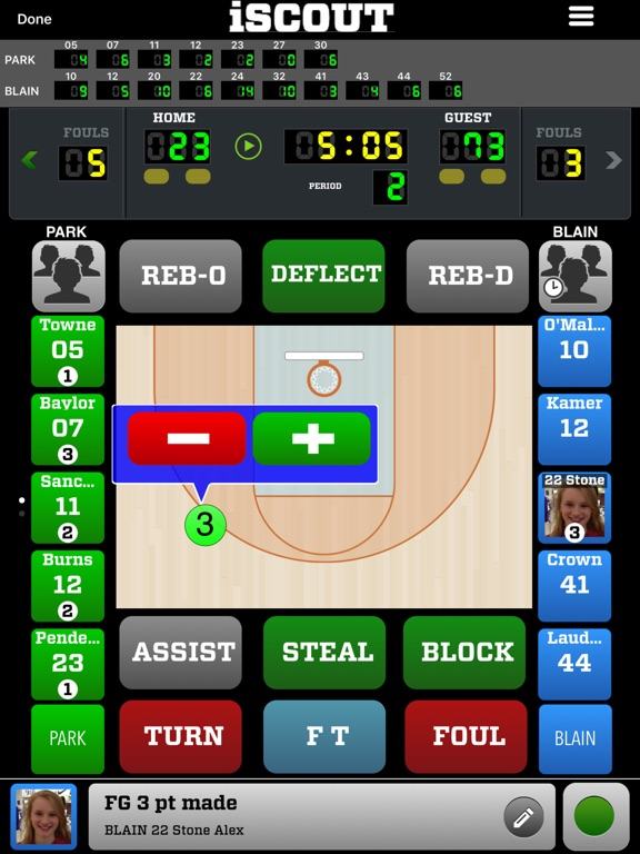 iScout Basketball Скриншоты7