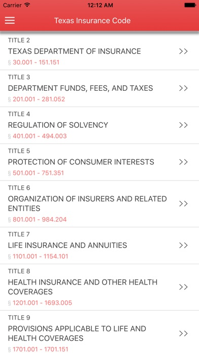 Texas Insurance Code 2017 Screenshot