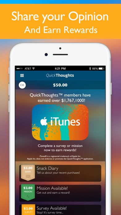 QuickThoughts - Earn Rewards on the App Store