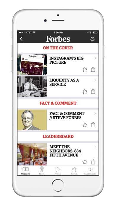 Screenshot 2 for Forbes's iPhone app'