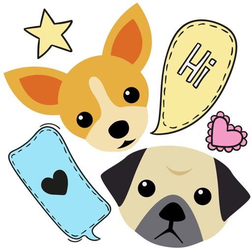 dog chat stickers by annamind pty ltd. Black Bedroom Furniture Sets. Home Design Ideas